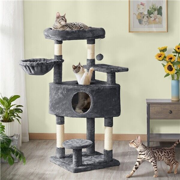 Cat Tree Cat Tower with Large Condo, Scratching Posts, Activity Tower Indoor Cat