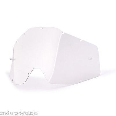 100% Vidrio de Repuesto Accuri-Strata-Racecraft Gafas Neu-Klar Motocross Enduro