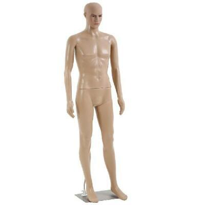 Male Full Body Realistic Mannequin Display Head Turns Dress Form Base