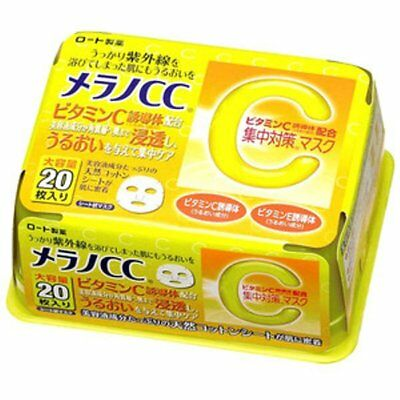 Rohto Japan MELANO CC Intensive Face Mask 20-Sheets, 195ml - stain remove mask