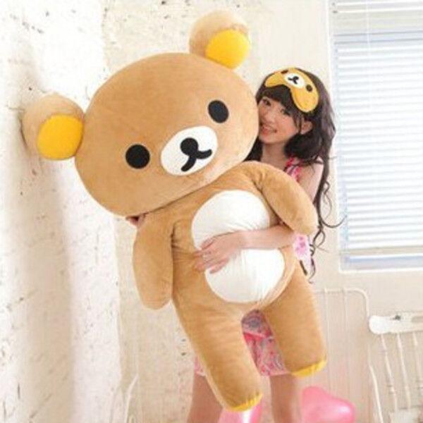 Rilakkuma Relax Bear Soft Giant Plush Doll Toy Stuffed Pillow Gift Large 80cm US