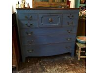 Large antique Georgian chest of drawers SOLD