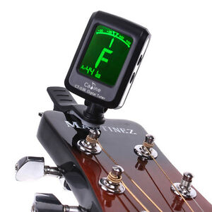 LCD Clip-on Electronic Digital Guitar Chromatic Bass Violin Ukulele Tuner US