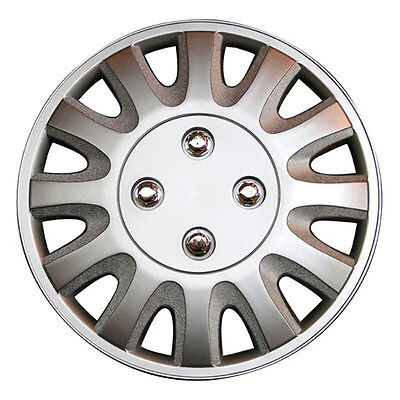 Motion 16 Inch Boxed Wheel Trim Set of 4 Silver Hub Caps Covers - TopTech
