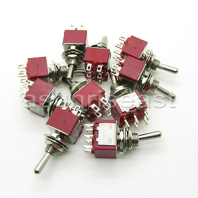 50mini Toggle Switch Dpdt 2 Position On-on 4-pin 250v 2a 125v 6a Wholesale