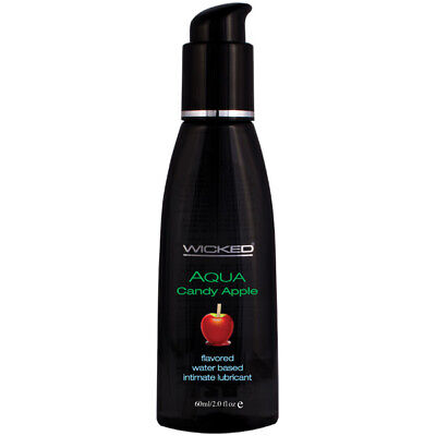 Wicked Aqua Candy Apple Flavored Water-Based Lubricant 2oz - Personal - Aqua Candy