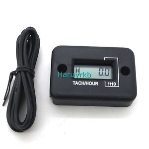 Digital-LCD-TACH-Hour-Meter-Gauge-for-Motorcycle-ATV-yama-ski-dirt-CAR-4-Stroke