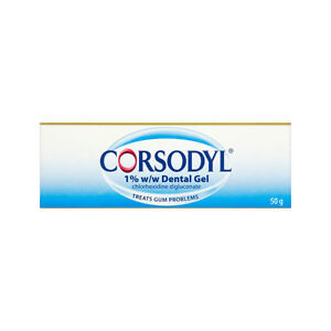 Corsodyl Dental Gel 50g - Treatment for Gingivitis - NEW