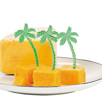 72 Hawaiian Palm Tree FOOD PICKS LUAU TROPICAL BEACH Hors d'oeuvre CUPCAKE](Hawaiian Luau Food)