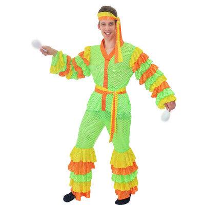 BRASILIANO costume CARNEVALE uomo adulto completo di accessori tg. M - - Kostüm Brasiliano