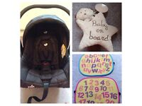 """Joie """"Juva"""" 0+ car seat & base (just washed :-)"""