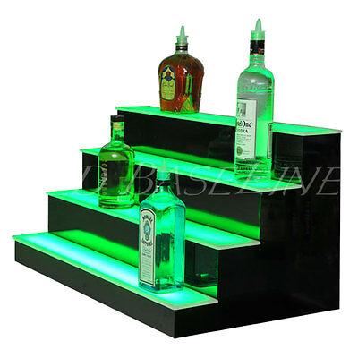 36 Lighted Glass Display Liquor Bottles 4 Step