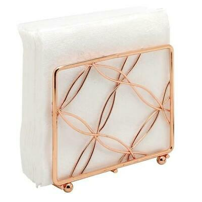 Vertical  Napkin Table Accessory  For  Kitchen  ,  Bright Copper Rose Gold