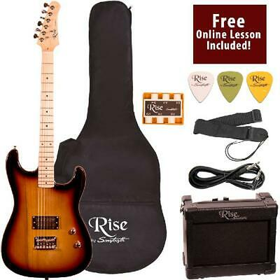 Beginners Electric Guitar Right Handed 3/4 Size With Amp And