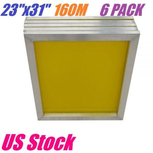 """US 6 PACK Aluminum Frame Silk Screen Printing Screens 23"""" x 31"""" 200 Yellow Mesh"""
