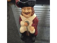 Vintage Toby jug the Cavalier . Staffordshire hand painted .