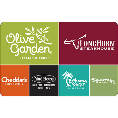 50 Olive Garden Physical Gift Card   Free Standard 1St Class Mail Delivery