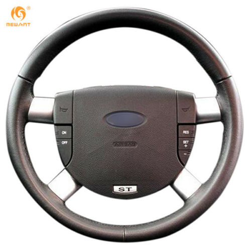 100/% Genuine Leather Black Steering Wheel Cover for Ford B-Max 12-On