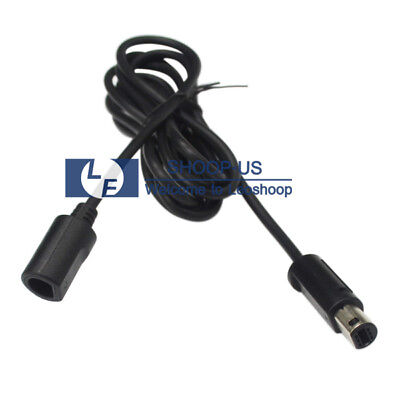 NEW Black Classic Gamecube Controller Nintendo Wii Extension Cable 6 FT