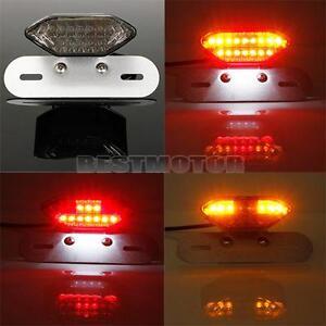 Motorcycle BIKE ATV 20 LED Rear Tail Turn Signal Brake License Plate Light Lamp