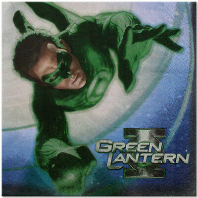 Green Lantern Party Supplies Large Lunch Napkins](Green Lantern Party Supplies)