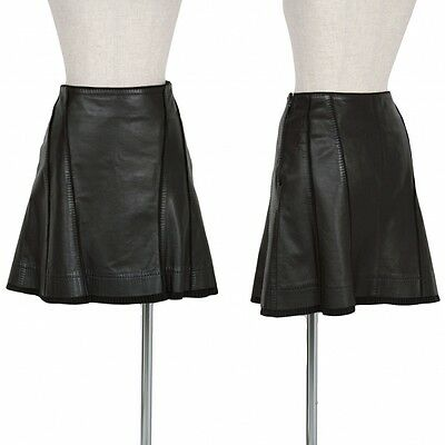 GUCCI Leather Short Skirt Size 40(K-35961)
