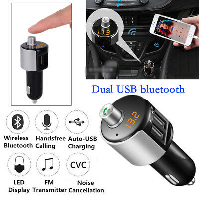 Bluetooth Car Kit FM Transmitter Wireless Radio Adapter USB Charger Player Novel