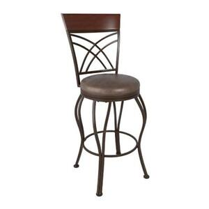 CorLiving DJS-323-B Jericho Transitional Bonded Leather Bar Height Stool - Rustic Brown (New Other)