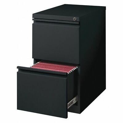 Hirsh 18578 20 Deep Two-drawer Mobile Pedestal File Cabinet Black