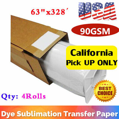 Us 4rolls 63 X328 Hanji Dye Sublimation Paper Heat Transfer Paper 90gsm