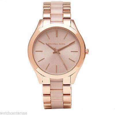 Michael Kors Women's MK4294 Slim Runway Rose Gold-Tone Stainless Steel Watch