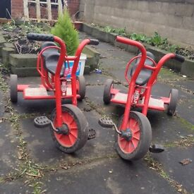 Very rare Winther Viking 2 Seat Taxi Kids / Children's Tricycle