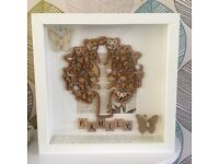 Personalised family tree / name frames