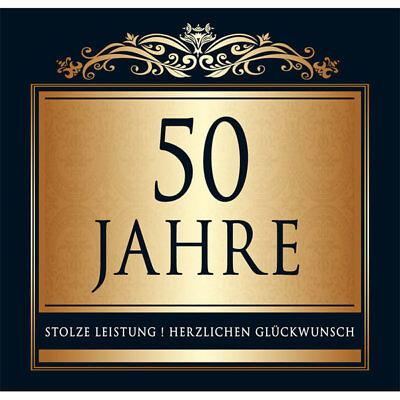 1 AUFKLEBER GOLD BRAUN  50 JAHRE GOLDHOCHZEIT 50.GEBURTSTAG