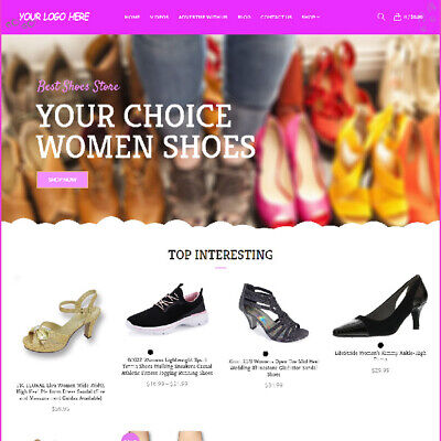 Designer Shoes Affiliate Online Business Website For Sale Mobile Friendly Ready