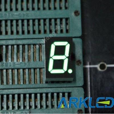 10pcs 0.8 Inch 1 Digit Led Display 7 Seg Segment Common Anode Green 0.8