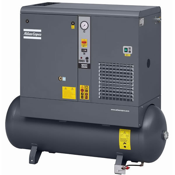 Atlas Copco Gx2 3-hp 53-gallon Rotary Screw Air Compressor (208-230/460v 3-ph...