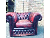 Chesterfield leather club chair