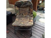 Nevis camo carp chair and carp barrow