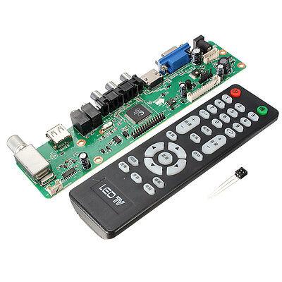 Board TV Motherboard Universal LCD Controller VGA/HDMI/AV/TV/USB Interface New