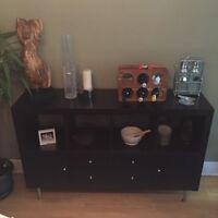 Expedit shelf transformed into sideboard