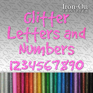 iron on letters and numbers glitter letters numbers iron on hotfix fabric t shirt 22594 | $ 35