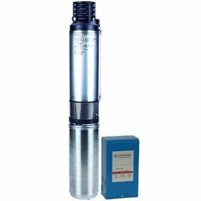 Lancaster Pump 3lpw10007-2 - 1 Hp 22 Gpm Deep Well Submersible Pump 3-wire 2...