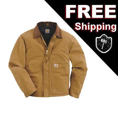 - Carhartt J002 Traditional Arctic Duck Quilt Lined Jacket, Carhartt Brown  XL REG