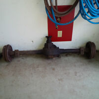 """1966 Mustang 8"""" rear axle complete with brakes and gear"""