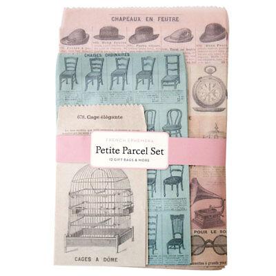 Cavallini & Co. French Ephemera Petite Parcel Set, Birthday Gift Wrap Bags](Tiny Gift Bags)