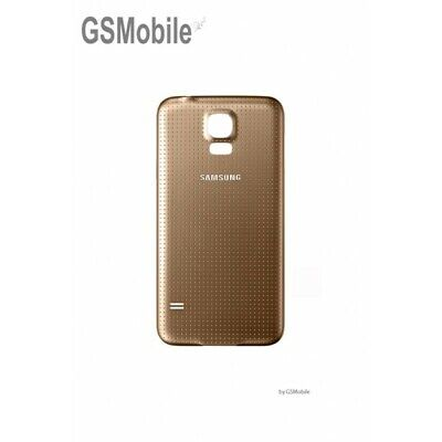 Tapa Trasera Bateria Battery Back Cover Dorado Gold Samsung Galaxy S5 G900F