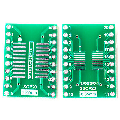 5pcs Somsoptssopsoic20 To Dip 20 Adapter Pcb Board Converter Double Sides Tw