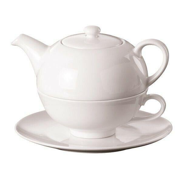 Teekanne Tea for One Set Porzellan 3-teilig Teekanne, Tasse, Untertasse
