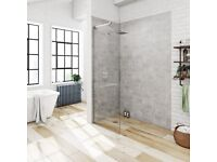 NEW IN BOX- Victoria Plum- Mode Wet Room Shower Glass Panel- 800 x 1950mm x 8mm Thick £50